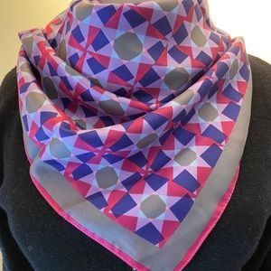 Dior geo print silk scarf